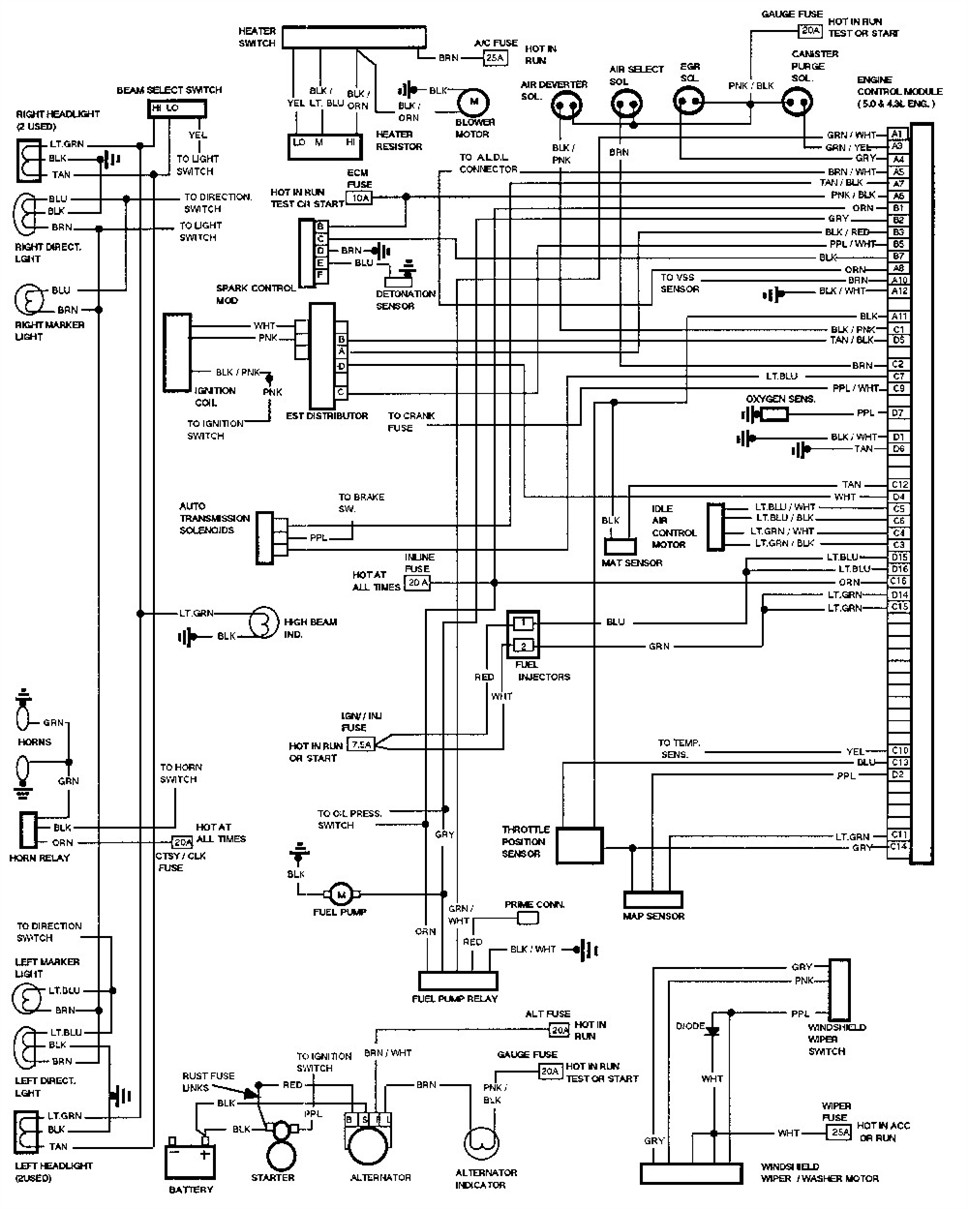 1989 Chevy Alternator Wiring Diagram from usaford.ru