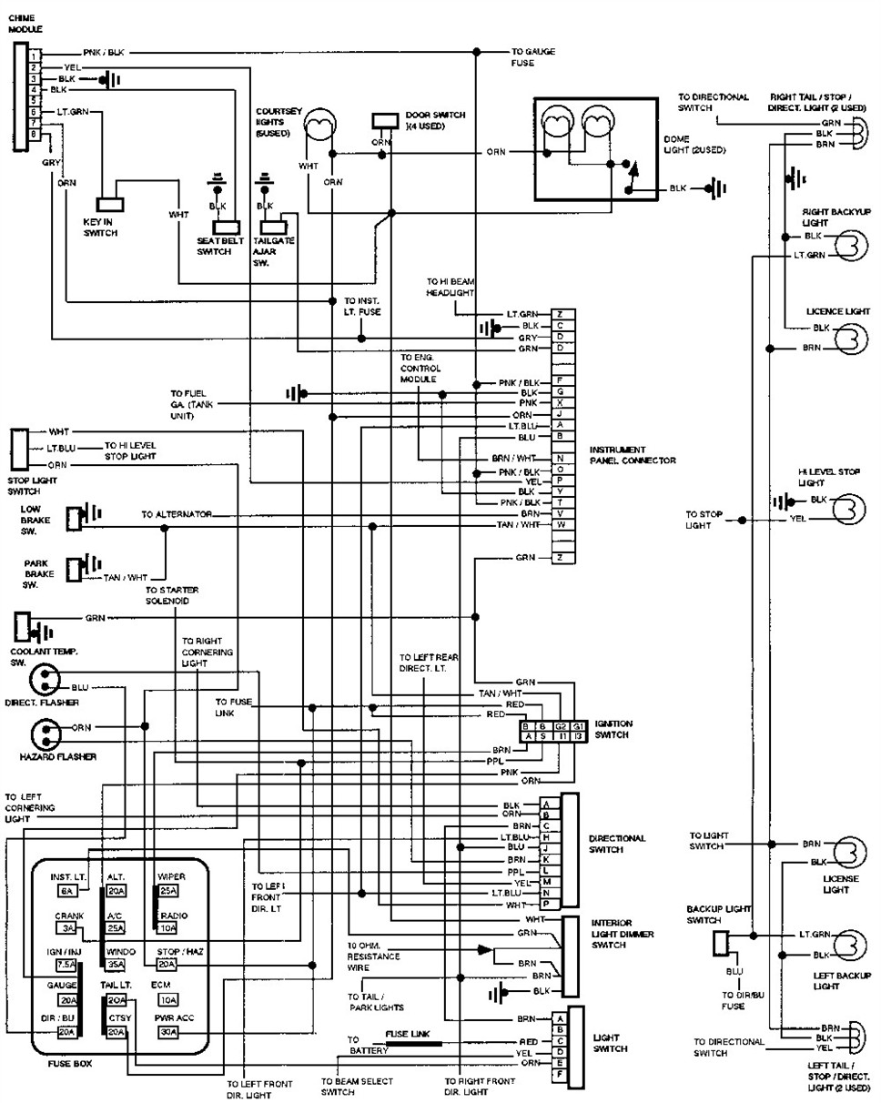 1993 Chevy Suburban Radio Wiring Free Diagram For You Clip Alternator Get Image Multy Funtion Switch