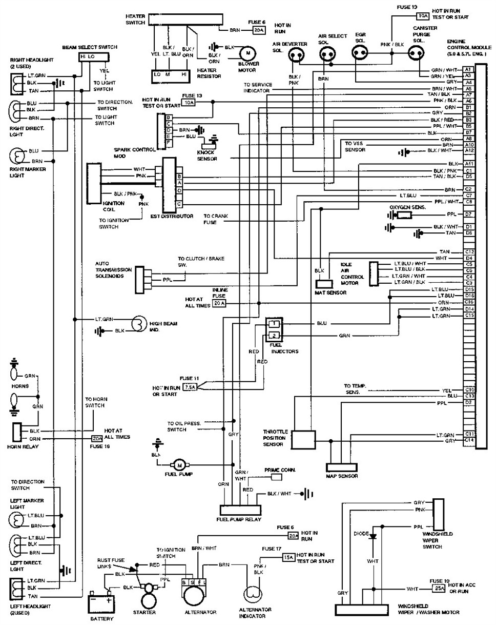 1991 chevy blazer wiring diagram  1991  free engine image