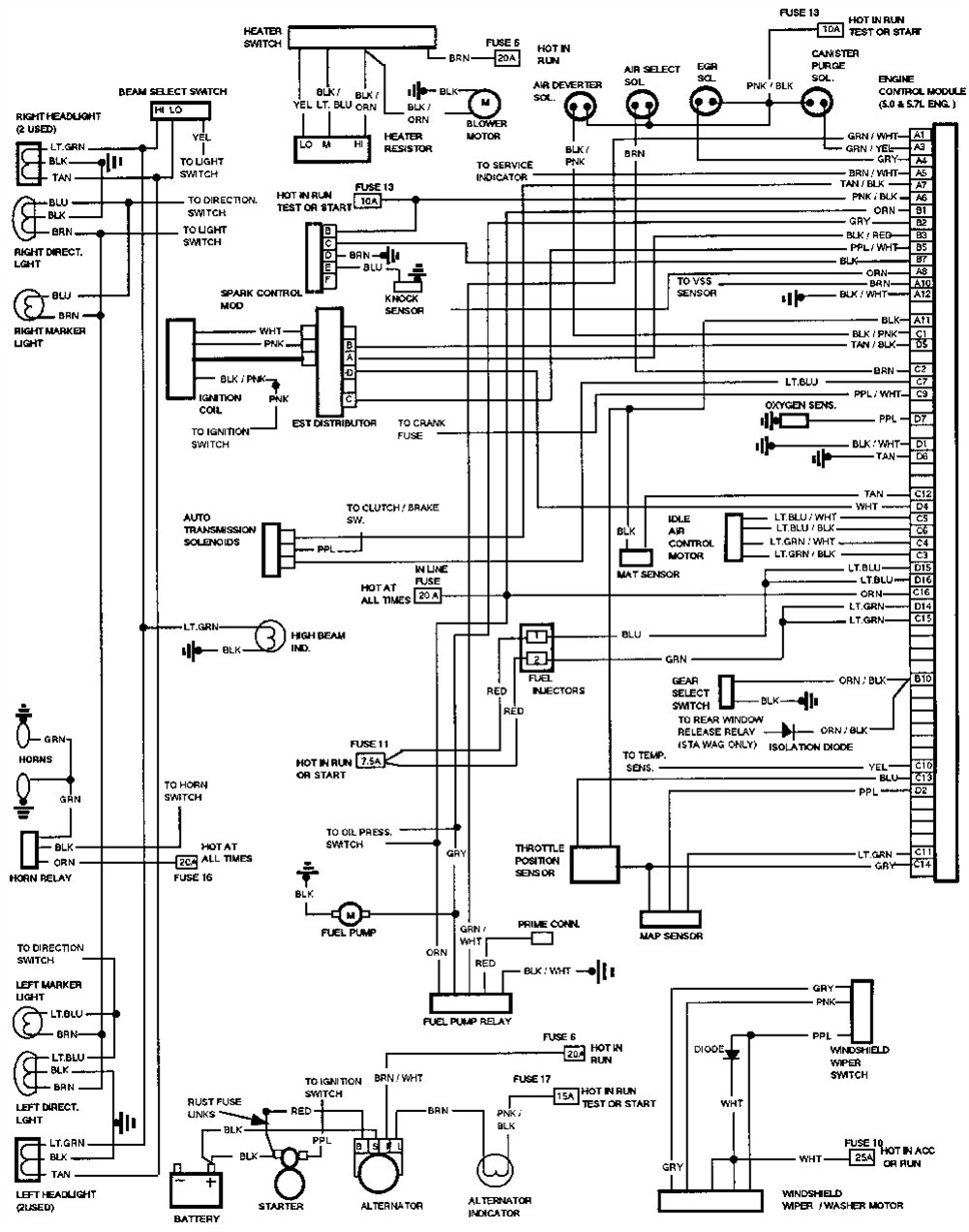 92 chevy s10 horn wiring diagram