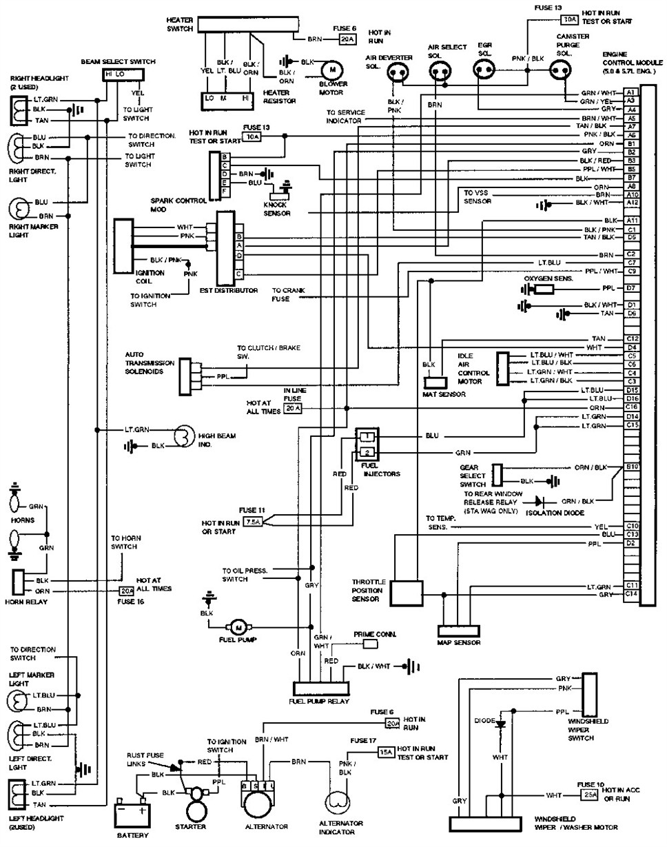 1993 Chevy Tahoe Wiring Diagram - Wiring Diagrams Folder on