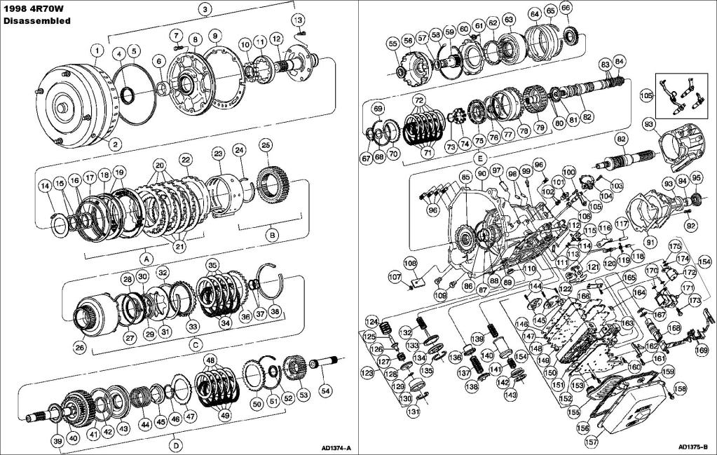 rebuild turbo 350 exploded view
